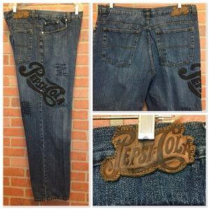 Vintage Pepsi Cola Jeans Mens 42 x 32 (3Y27)